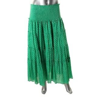 Lauren Ralph Lauren Womens Gauze Striped Peasant, Boho Skirt - XL