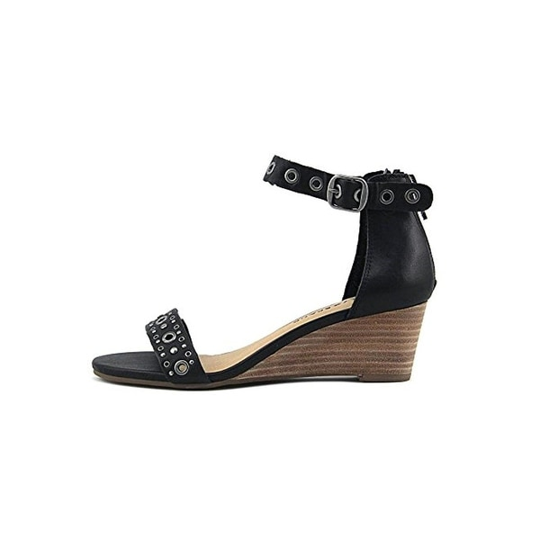 Lucky Brand Womens Jorey2 Wedge Sandals Grommet Open Toe
