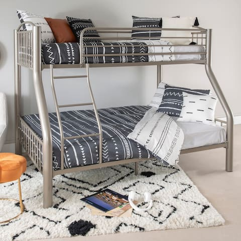 Powell Carlisle Twin over Full Pewter Bed