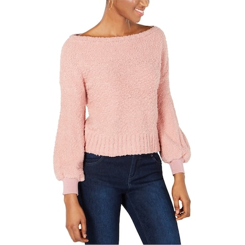 Bar Iii Womens Bishop Sleeve Pullover Sweater