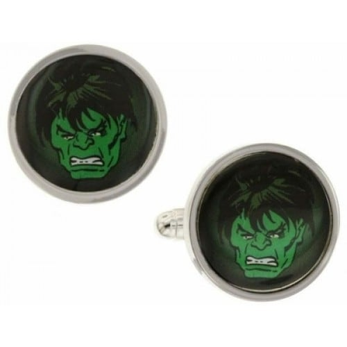 Incredible Hulk Angry Green Face Marvel Superhero Cufflinks