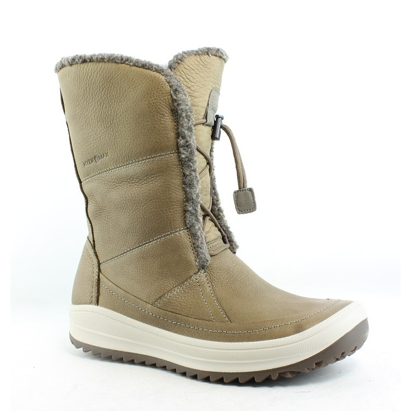 fbe986f03a6a Shop ECCO Womens Trace Tie Birch Birch Snow Boots EUR 40 - Free ...