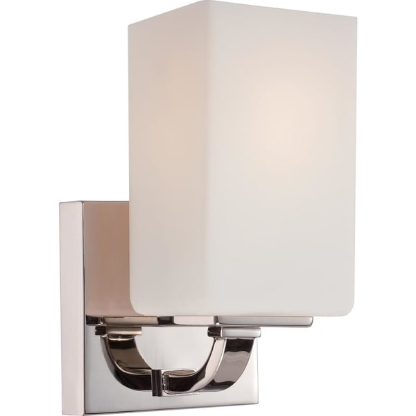 "Nuvo Lighting 60/5181 Vista 1-Light 4-1/2"" Wide Bathroom Sconce with Frosted Glass Shade - Polished Nickel"