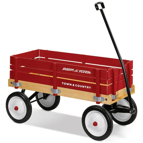 Radio Flyer 24 Town & Country Toy Wagon w/Removable Sides, For Ages 1-1/2+ Years