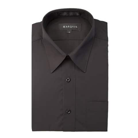 Marquis Boy's Long Sleeve Button Down Regular Fit Dress Shirt