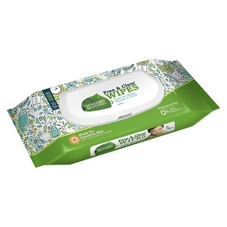 Seventh Generation Baby Wipes, Free & Clr, Trvl - (Case of 12 - 30 ct)