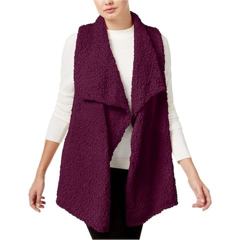 Kensie Womens Fuzzy Fashion Vest