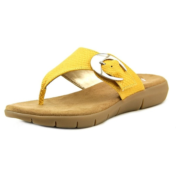 A2 By Aerosoles Wipline Women Open Toe Synthetic Yellow Thong Sandal