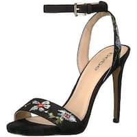 Bebe Womens ingram Open Toe Casual Slingback Sandals, Black, Size 6.5