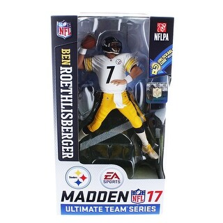 Pittsburgh Steelers Ben Rothlisberger (White/Yellow Jersey) Madden NFL 17 Ultimate Team Series 2 Figure