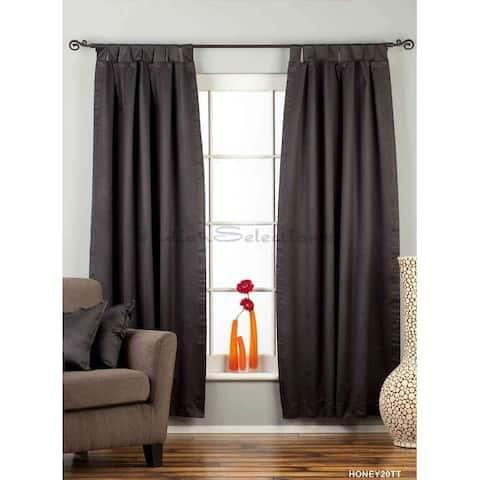 Black Tab Top blackout Curtain / Drape / Panel - Piece