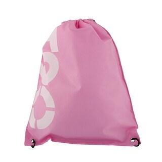 Outdoor Travel Oxford Fabric Letter Print Drawstring Storage Bag Organizer Pink - white,black,pink