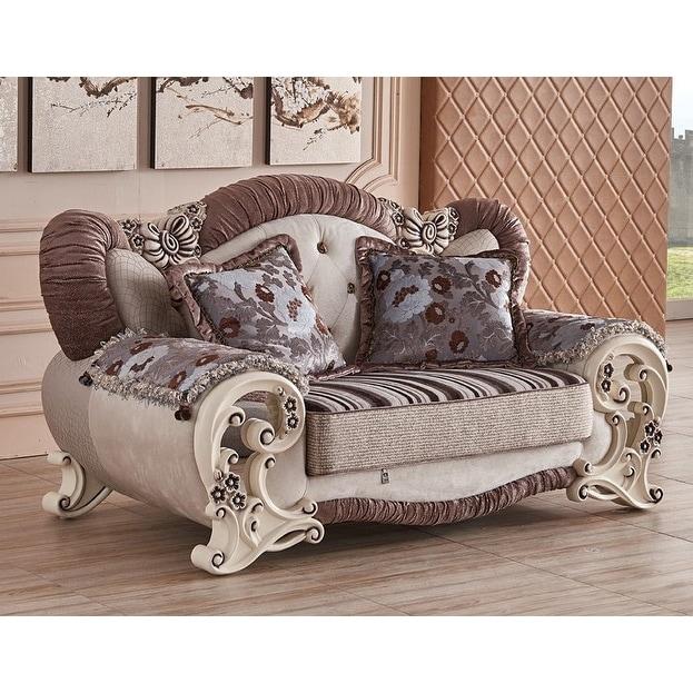 Luxury Design Royal Majestic 6 piece living room sofa set