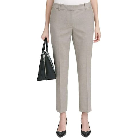 "Calvin Klein Women's Modern Fit Novelty Pant Beige Size 10"""