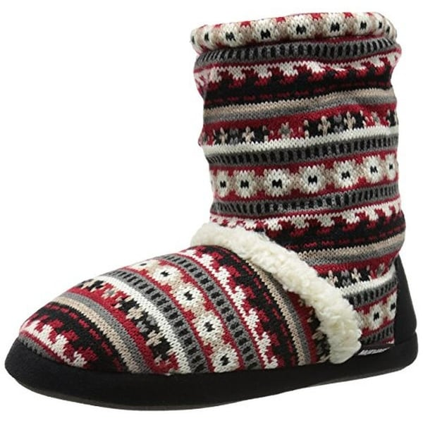 Muk Luks Womens Bootie Slippers Scrunch Faux Fur