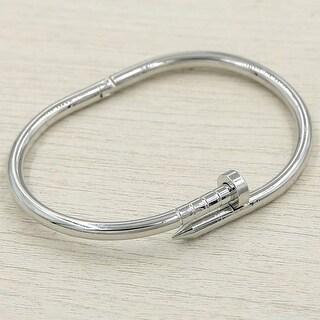 Mad Style Silver Nail Bracelet