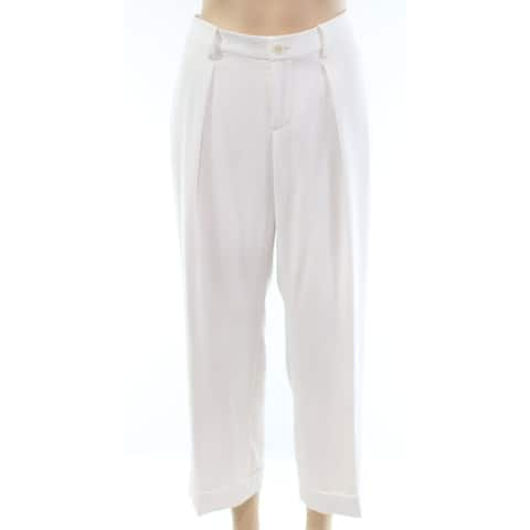 Lauren by Ralph Lauren Women's Dress Pants White Ivory Size 6X26