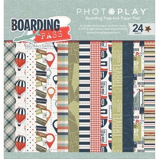 """Photo Play Double-Sided Paper Pad 6""""X6"""" 24/Pkg-Boarding Pass"""