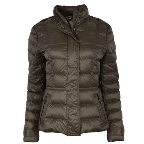 Burberry Brit Women's Olive Green Dalesbury Duck Down Puffer Jacket