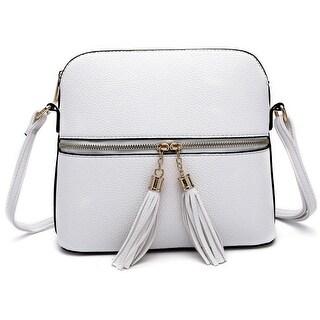 Style Strategy Crossbody Bag Phone pocket with Tassel zipper pull