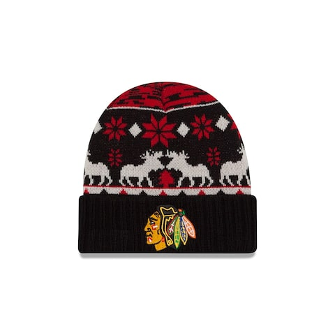 New Era Chicago Blackhawks Team Mooser Knit Hat