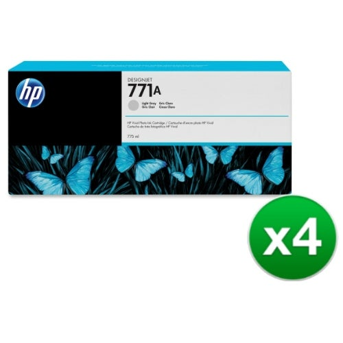 HP 771A 775-ml Light Gray DesignJet Ink Cartridge (B6Y22A) (4-Pack)