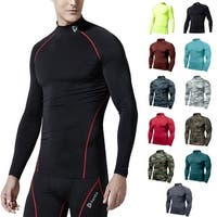 Tesla T11 Z-Series Cool Dry UPF-50 Long Sleeve Mock Turtleneck Compression Shirt
