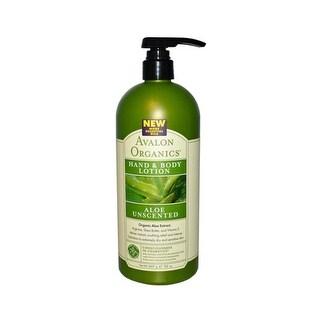 Avalon Organics Hand and Body Lotion Aloe Unscented - 32 fl oz