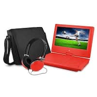 Ematic EPD909RD 9 in. Dvd Player Bundle Red