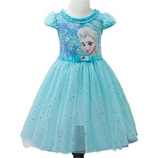 Eyekepper Kids Children Girls Cartoon Elsa Princess Cosplay Mesh Bubble Dress - 150cm