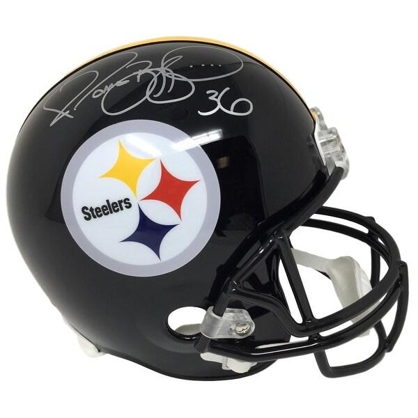 c70692b427b Jerome Bettis Signed Pittsburgh Steelers Full Size Replica Helmet JSA ITP