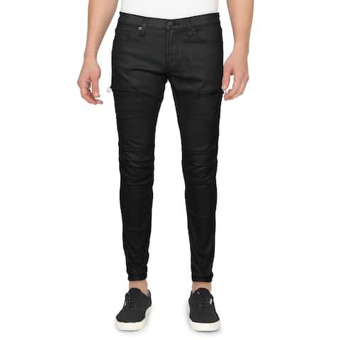 J Brand Mens Acrux Moto Skinny Jeans Coated Color Wash