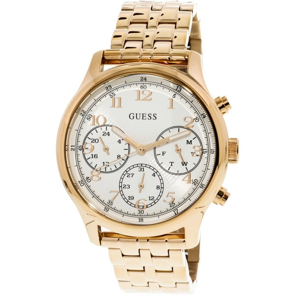 d486194653bf Shop Guess Women s Rose-Gold Stainless-Steel Japanese Quartz Fashion Watch  - Free Shipping Today - Overstock.com - 18615528
