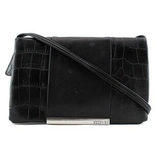 Kenneth Cole Reaction Foldover Minibag Crossbody Messenger - Black