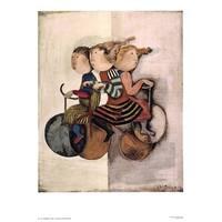 ''Promenade a Trois'' by Graciela Rodo Boulanger Latino Art Print (30 x 22.5 in.)