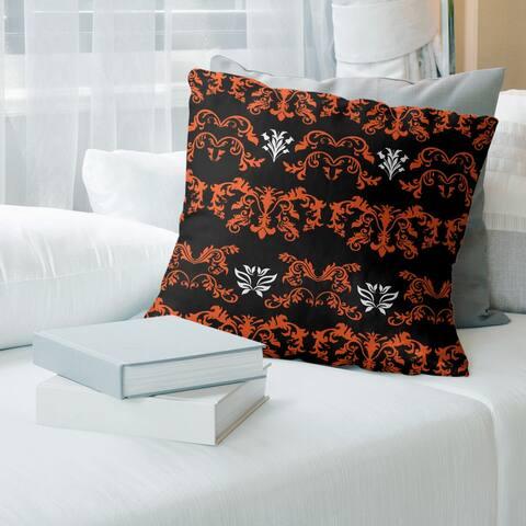 Cincinnati Football Baroque Pattern Accent Pillow-Cotton Twill