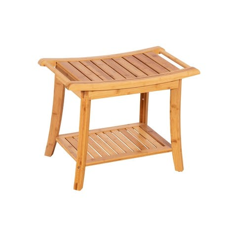 Solid Bamboo Spa Style Bench