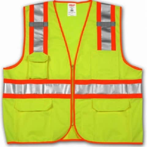 Tingley V73852-S-M Surveyor Style 2-Tone Hi-Vis Vest, Small/Medium, Yellow/Green