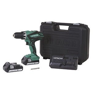 Hitachi 18 Volt Lithium Ion Cordless DRILL, 1/2'' LED Light Power DRILL DRIVER