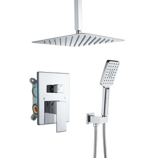"12"" Wall-Mounted Bathroom Shower Faucets Set"