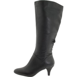 Naturalizer Womens Dinka (Wide Calf) Leather Almond Toe Knee High Fashion Boots