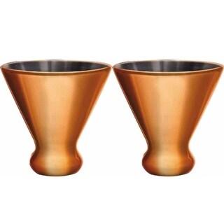 Corkpops Nicholas Collection Copper Martini Glass-2 Pack