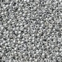 BeadSmith Unions, 11/0 Round Seed Beads, 24 Gram Tube, Crystal Full Labrador