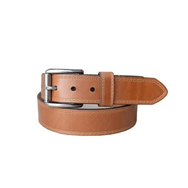 Lejon Western Belt Mens Springcreek Leather Cognac