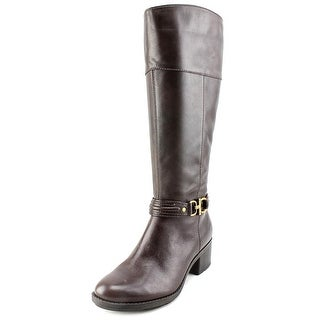 Bandolino Ulla Wide Calf Women Round Toe Leather Knee High Boot