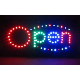 2xhome Open Multi-Color LED Restaurant, Business, And Store Sign with Animation Effects & Motion Flashing Capabilities