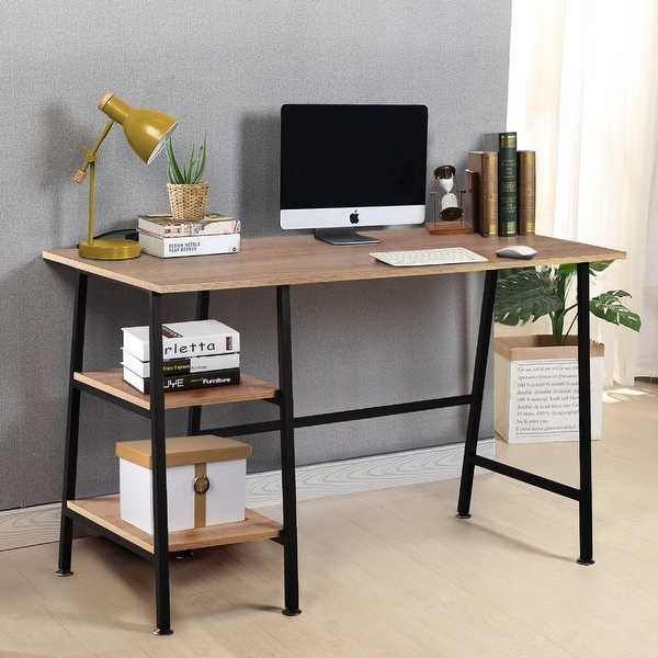 Computer Storage Desk with Removeable 2 Tier Shelves for Office (5 Color Opotions). Opens flyout.