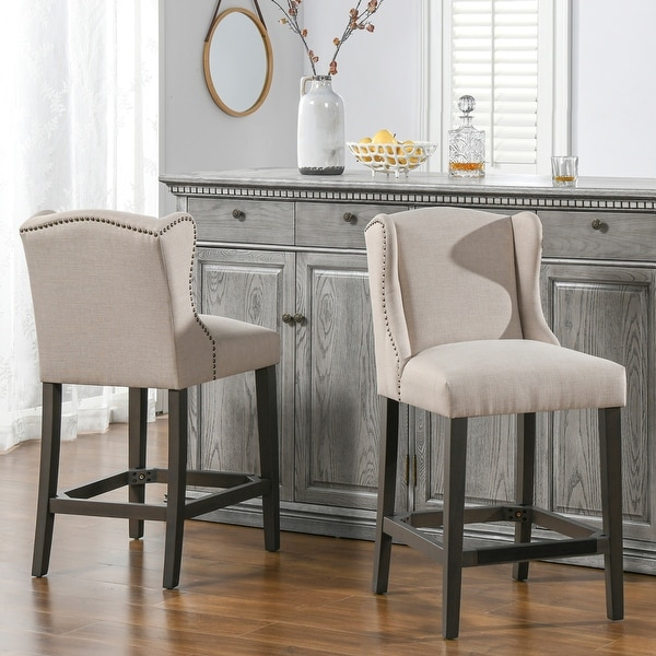 Jennifer Taylor Home Sam Wingback 27-inch Counter-Height Armless Barstool. Opens flyout.