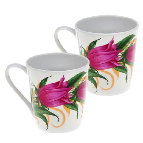 STP Goods 10.1-Ounce Bellflowers Porcelain Mug (Set of 2)