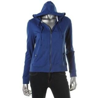 LRL Lauren Jeans Co. Womens Cotton Zip Front Hoodie - S